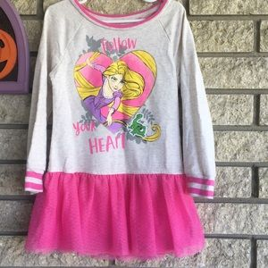 5T girls Tangled sweatshirt dress